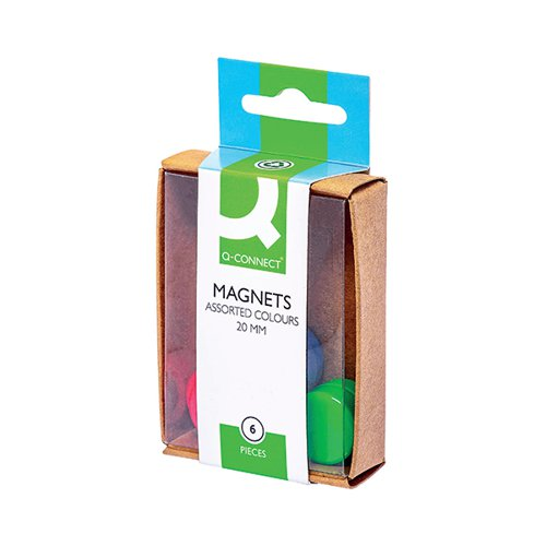 Q-Connect Round Magnet 20mm Assorted (Pack of 60) KF02040Q