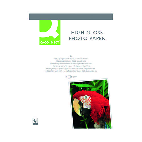 Q-Connect A4 High Gloss Photo Paper Pk20