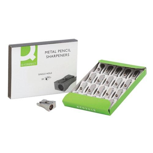 Q-Connect Metal Pencil Sharpener (Pack of 20) KF02218