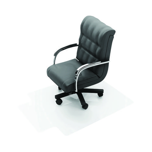 Q-Connect Clear Chair Mat PVC 1143x1346mm (Studded underside for secure grip) KF02256