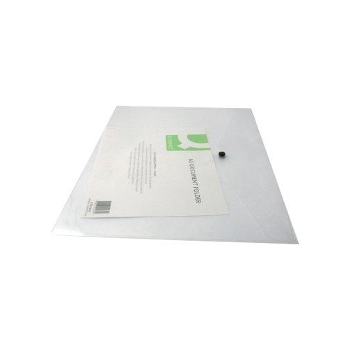 Q-CONNECT PLASTIC A3 CLR DOC FOLDER PK12