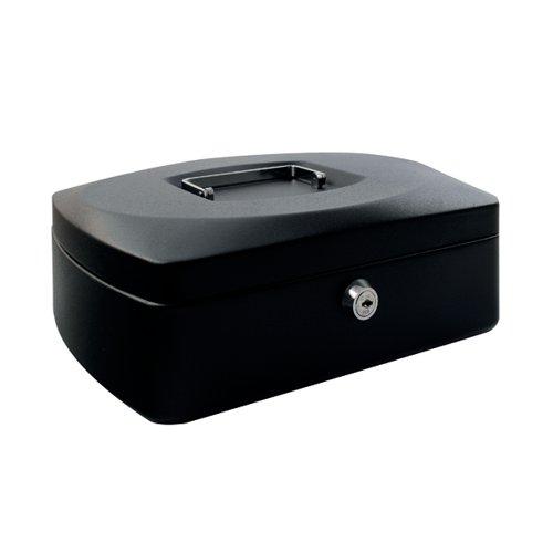 Q-Connect Cash Box 12 Inch Black KF02604