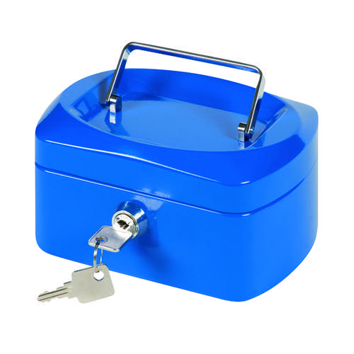 Q-Connect Blue 6 Inch Cash Box