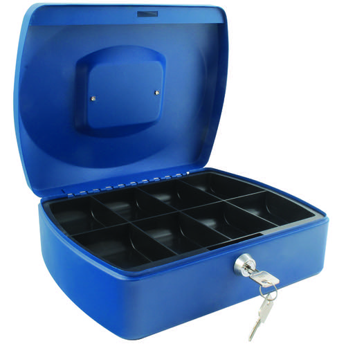 Q-Connect Cash Box 10 Inch Blue KF02624