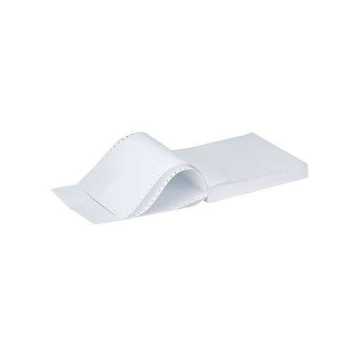 Q-Connect 11x9.5 Inches 3-Part NCR Perforated Plain Listing Paper (Pack of 700) KF02709