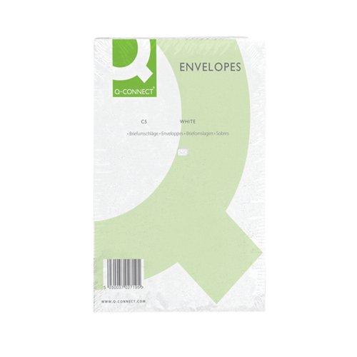 Q-Connect C5 Envelopes Pocket PS 100gsm White (Pack of 500) KF03289