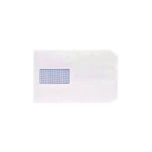 Q-Connect C5 Envelopes Window Pocket Peel and Seal 100gsm White (Pack of 500) IP53