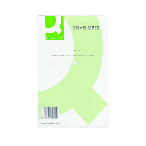 Q-Connect C4 Envelopes Peel and Seal 100gsm White (Pack of 250) 1P27