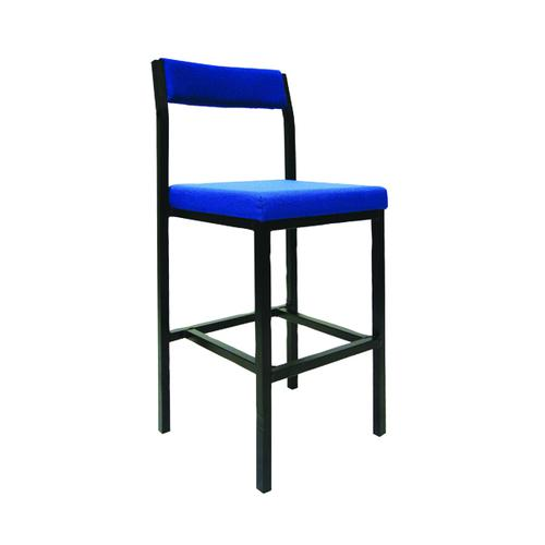 Jemini High Stool with Back Rest Blue KF03310