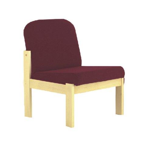 Arista Claret Beech Veneer Reception Seat (Seat Dimensions: W540 x D520mm) KF03324
