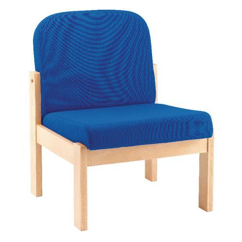 Arista Blue Beech Veneer Reception Seat KF03325