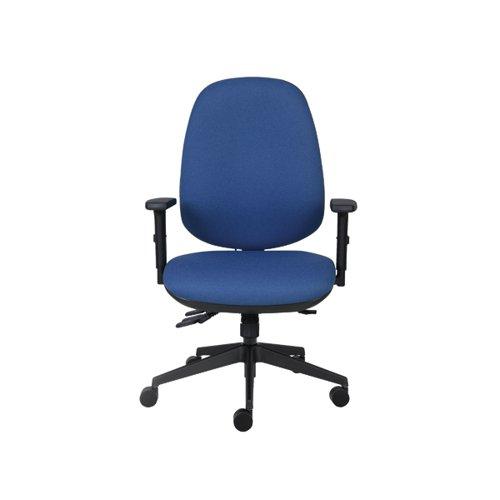 Cappela Rise High Back Posture Chair 652x545x820mm Blue KF03494