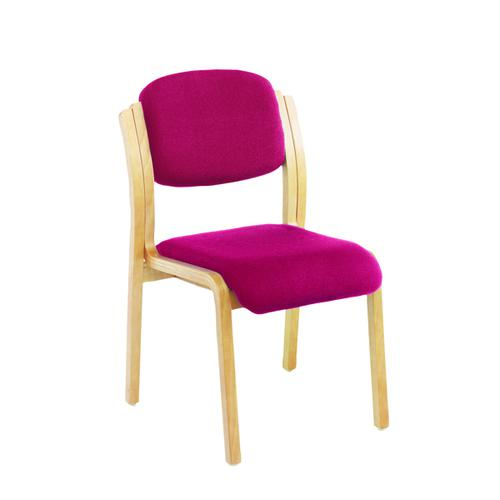 Jemini Claret Wood Frame Side Chair No Arms KF03513