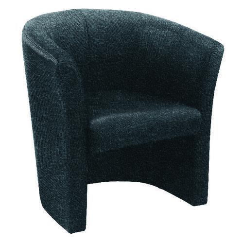 Arista Charcoal Tub Chair Fabric