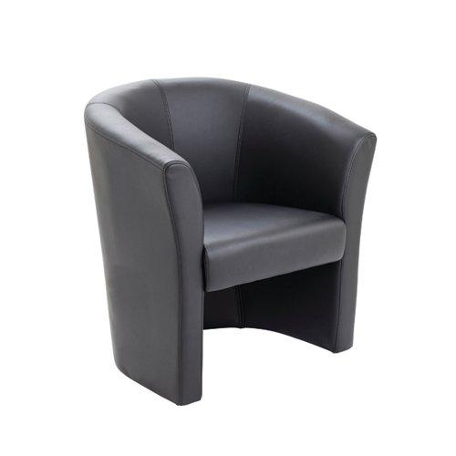 Avior Black Vinyl Tub Chair (Seat Dimensions: W460 x D480mm) KF03527