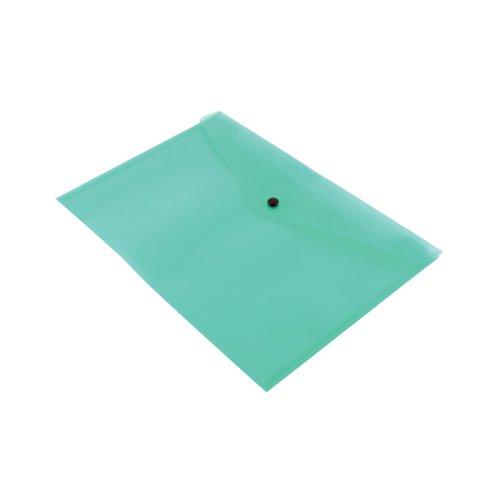 Q-CONNECT A4 GREEN DOCUMENT FOLDER PK12