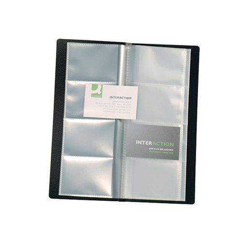 Q-Connect Polypropylene Name Business Card Holder 160 Card Black KF03664
