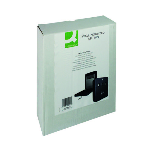 Q-Connect Ash Bin Black 2.7 Litre KF04271