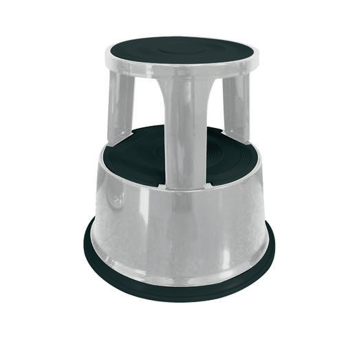 Q-Connect Light Grey Metal Step Stool