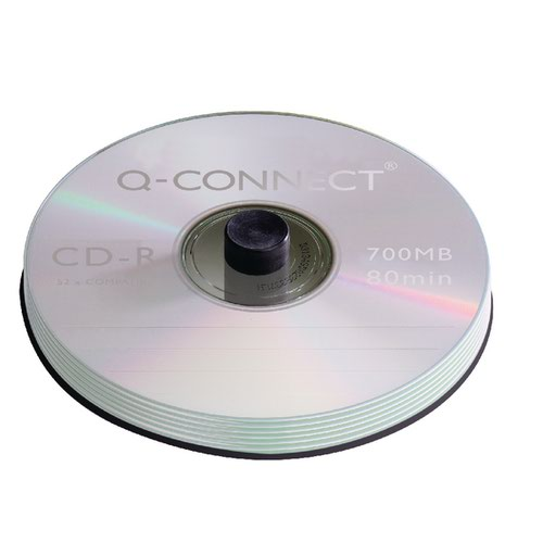 Q-Connect CD-R Spindle 80min 52x 700MB (Pack of 100) KF07935