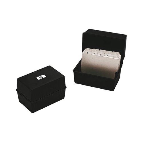 Q-Connect Card Index Box 203 x 127mm Black KF10020