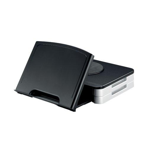 Q-Connect Black Monitor Stand/Copyholder
