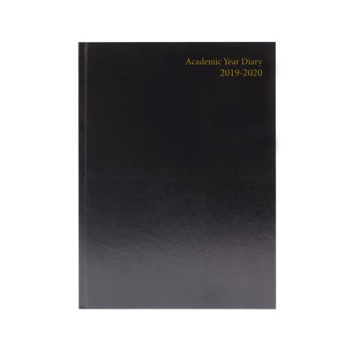 Academic Diary Day Per Page 2019-20 A5 Black