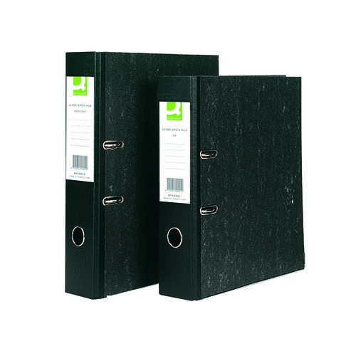 Q-Connect Lever Arch File A4 Black (Pack of 10) KF20001