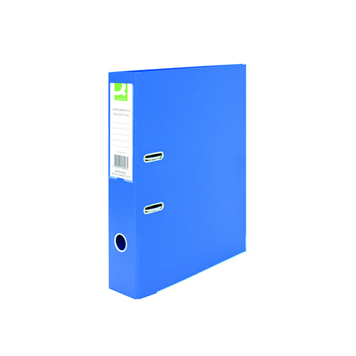 Q-Connect 70mm Lever Arch File Polypropylene Foolscap Blue (Pack of 10) KF20026