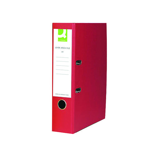 Q-CONNECT RED PPR/BRD A4 LEVER ARCH PK10
