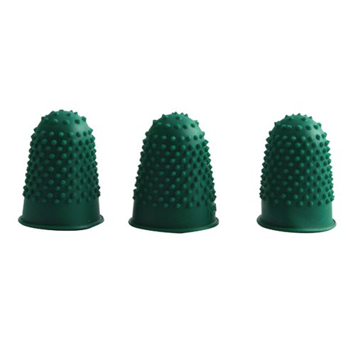 Q-Connect Thimblettes Size 0 Green (Pack of 12) KF21508