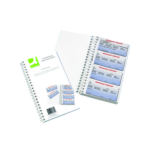 Q-Connect Duplicate Telephone Message Book 200 Messages KF26034