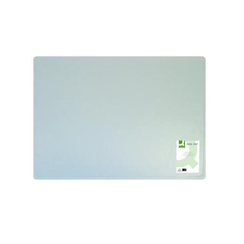 Q-Connect Desk Mat Clear (W530 x D400mm, Anti-glare and easy clean surface) KF26800