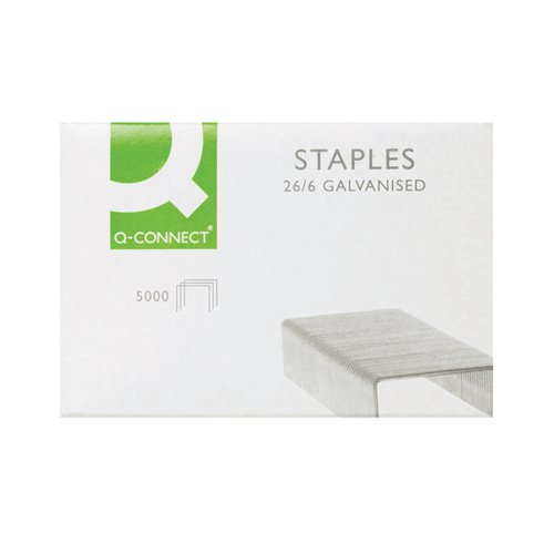 Q-Connect Staples 26/6 KF27001 Pack of 5000