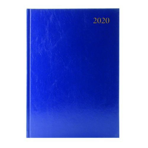 Desk Diary Blue A4 2 Pages Per Day 2020 (Reference calender on each page) KF2A4BU20