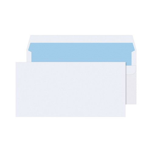 Q-Connect DL Envelopes Plain Wallet Self Seal 80gsm White (Pack of 1000) KF3454