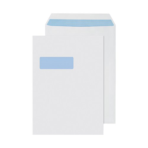 Q-Connect C4 Envelopes Window Self Seal 90gsm White (Pack of 250) 2907
