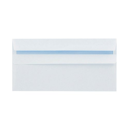 Q-Connect DL Envelopes Recycled Self Seal 100gsm White (Pack of 500) KF3504