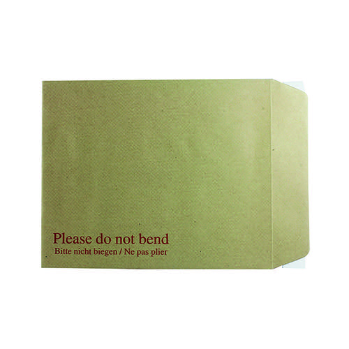 Q-Connect Envelope 267x216mm Board Back Peel and Seal 115gsm Manilla (Pack of 125) KF3519