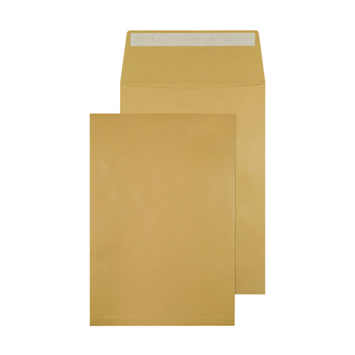 Q-Connect Envelope Gusset 324x229x25mm Peel and Seal 120gsm Manilla (Pack of 100) KF3527
