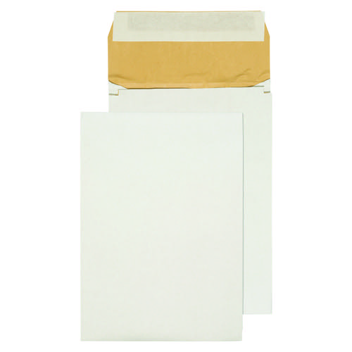 Q-Connect Padded Gusset Envelopes B4 353x250x50mm Peel and Seal White (Pack of 100) KF3532