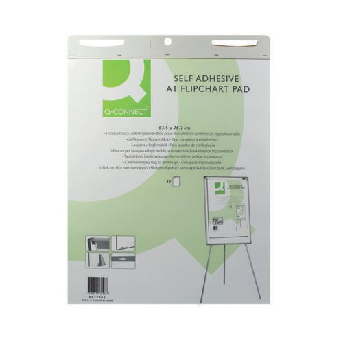 Q-Connect Self-Adh A1 Flipchart Pad Pk2