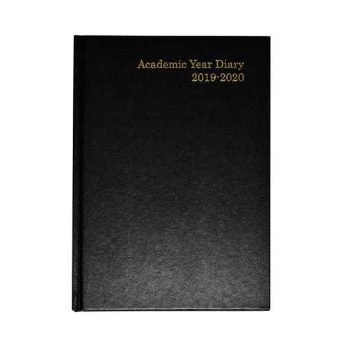 Academic Diary A5 Week to View 2019-20 Black KF3A5ABK19