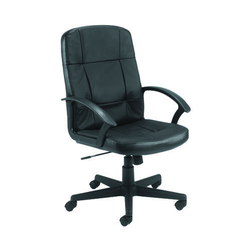 FF Jemini Leather Look Exec Chair Blk