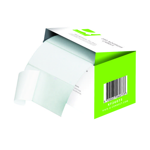 Q-Connect Adhesive Address Label Roll 76 x 50mm 9320029 Pack of 1500