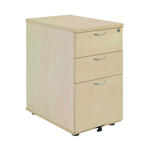 Jemini Maple 3 Drawer 800mm Desk High Pedestal KF72074