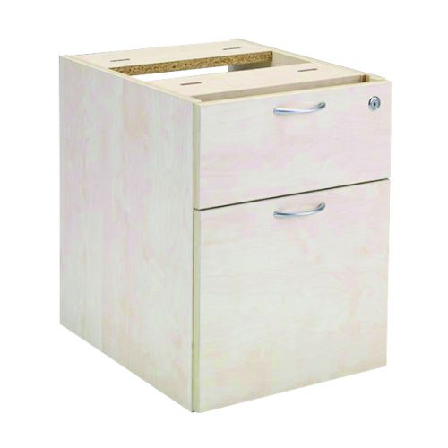 Jemini Maple 2 Drawer Fixed Pedestal KF72077