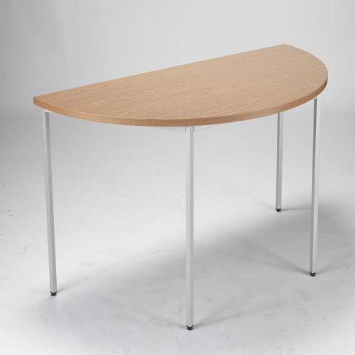 JEMINI OAK 1600MM SEMI-CIRCULAR TABLE