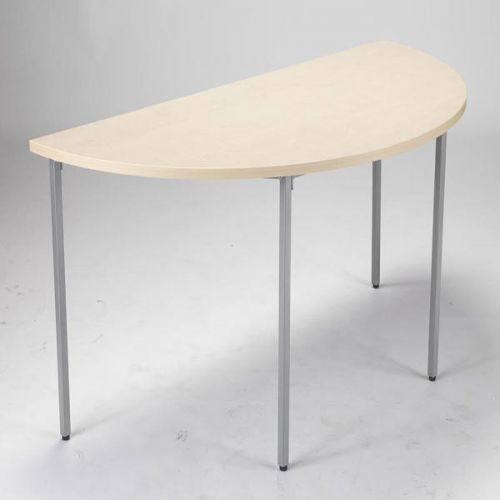 JEMINI MAPLE 1600MM SEMI-CIRCULAR TABLE