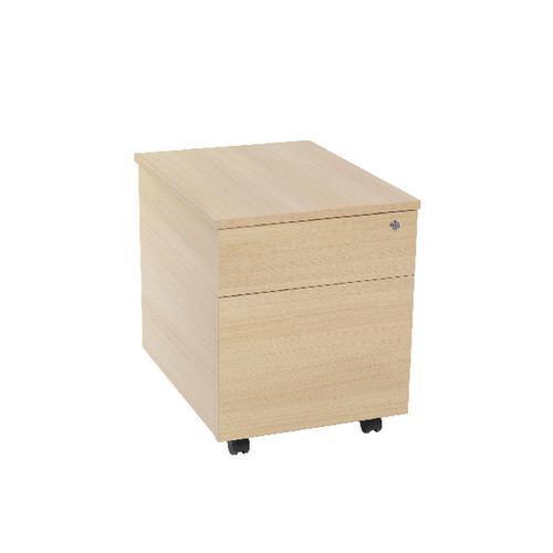 Serrion Warm Maple 2 Drawer Mobile Pedestal KF73836